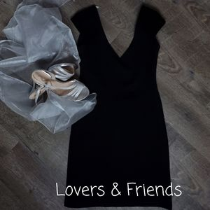 LOVERS + FRIENDS BACKLESS BLACK DRESS, SIZE SMALL